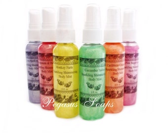 Clearance Pink Lemonade Sparkling Shimmering Body Mist- Body Care- Gifts For Her