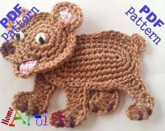 Bear Crochet Applique Pattern