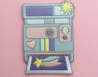 Pastel Camera Patch - Iron On Rainbow Camera Patch