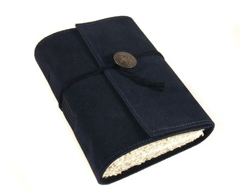 Journal, Leather, Suede, Diary, Handmade: The Blues
