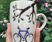 Bike Mug Blue