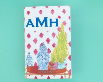PERSONALIZED MONOGRAM MATCHBOXES with Hermes Tray & Ginger Jar Design