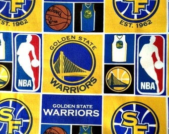 Boy or Girl Cotton Burp Cloth Made With Golden State Warriors NBA 100% Cotton Fabric