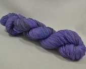 SALE 30% OFF Hand Dyed Merino Superwash Bamboo Nylon Sock Yarn - Squish by Yarn Hollow Lavender Semi Solid