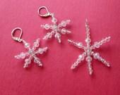 Crystal Snowflake Earrings and Pendant Set