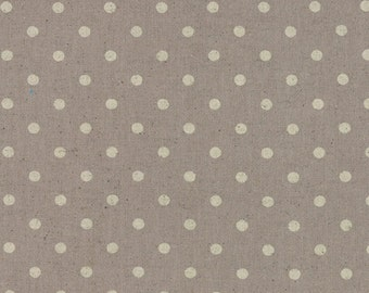 Mochi Dots Linen - Putty: sku 32910-22 cotton/linen quilting fabric by Momo for Moda Fabrics - 1 yard