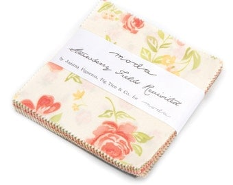 Strawberry Fields Revisited Charm Pack by Fig Tree and Co. for Moda Fabrics,  42 5 inch squares