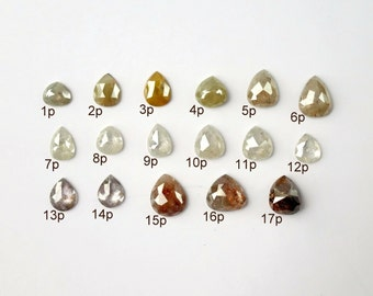 Pear Rose Cut Diamonds - Deposit