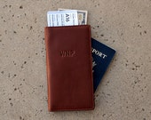 Personalized Leather Travel Wallet