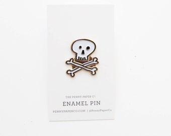 Skull and Crossbones, Enamel Pin