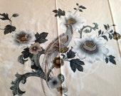 Vintage Pheasant Pattern Tablecloth Screen Printed Bird Motif 5th Avenue Designs Made USA