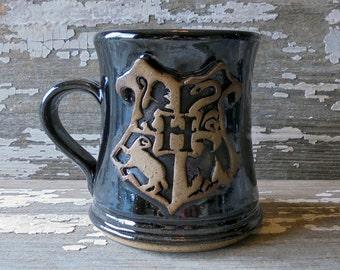 Hogwarts Mug -  Rustic - Handmade Pottery Mug - Stoneware - Harry Potter Mug - MADE TO ORDER