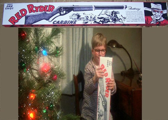 """Items similar to A Christmas Story"""" RED RYDER BOX and ..."""