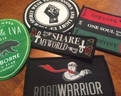 Custom IRON ON Patches - 50 - Your own artwork - Up to 10 Colors
