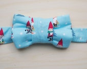 Holiday Bow Tie for Cats -Gnome Print