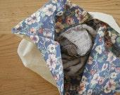 linen + liberty - lined bento bag 2
