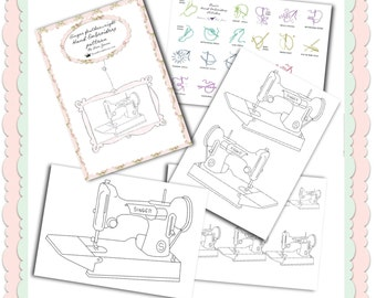 Singer featherweight hand embroidery pattern digital download