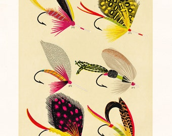 fly fishing print from an 1892 book, printable digital download no. 932