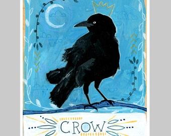 Animal Totem Print - Crow