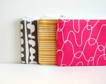 Long Zipper Pouch, Pencil Pouch, Pencil Case, Kids, School Supplies, Women and Teens, Organizer, Lotta Jansdotter