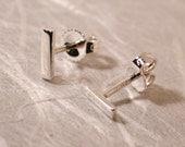7mm x 2mm Modern Bar Earrings Geometric Stud Earrings Bar Simple Basic Studs Sterling Silver by Susan Sarantos