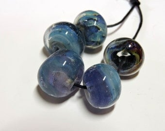 Lampwork Beads THE BLUES Two Sisters Designs 071416B