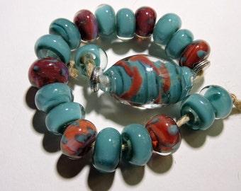 Bead Handmade Lampwork SANTA FE Two Sisters Designs 010416C