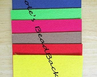 Nicole's BeadBacking 12x9 NBB 7 colors  Bead Embroidery Soutache Shibori Beading Free Tuts