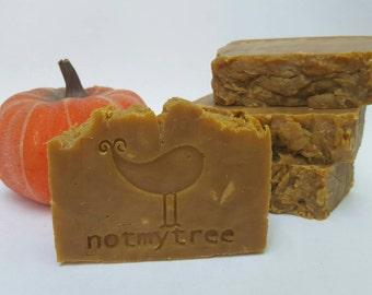 Pumpkin Soap, Handmade Soap, Vegan Soap, All Natural, Essential Oil, Olive Oil Soap, Dye Free Soap, Thanksgiving Soap, Hostess Gift