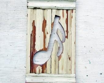 Musical Wall Art, Music Room Decor, Reclaimed Wood Wall Art, Musicians Gift Bohemian Decor Architectural Salvage Boho Room Decor, Music Art