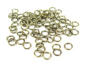 Antiqued Brass 6mm Round Jump Rings - 12 grams (approximately 100x) (19 gauge) K854-C