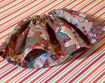 Blythe / DAL Skirt - Christmas 2015 -  Festive Gingerbread Men - CLEARANCE ITEM