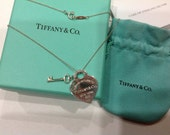 Tiffany and Co. 'Return to Tiffany' heart and key necklace in Sterling Silver
