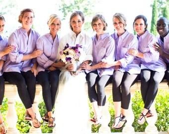 Set of 10 Bridesmaid Shirts - Bride and Bridesmaid Shirts - Button Down Shirt - Bridesmaid Shirt Set