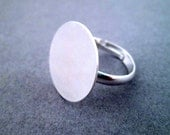 18mm silver round ring blanks