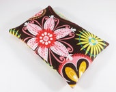 Flax BooBoo Owie Bag - Hot Cold Pack - Heat Therapy - Cold Compress - Carnival Bloom - Ecofriendly Natural Gift