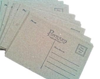 "Chipboard Postcards, Postcard blanks, set of 20, Chipboard, 5 1/2"" x 3 3/4"", Postcard"