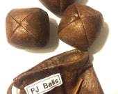 105g - 3 JUGGLING Balls With Bag - Pseudo-Leather Suedecloth