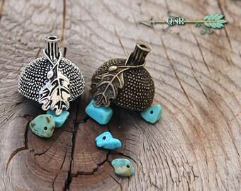 Acorn Tops - Lampwork Bead Supplies jewelry findings components caps silver bronze pendant necklace