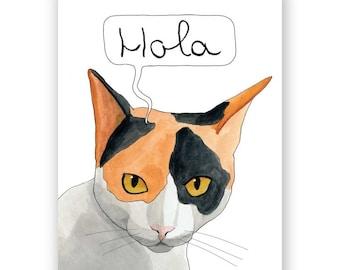 Hola Cat Card