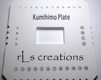 Kumihimo Foam Disc 6x6in Square Includes instructions for Braiding Cords and Jewerly