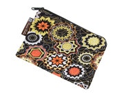 Catch All Bag holds chargers - cords - make up - collections - hard drives - FAST SHIPPING - Medallion Fabric