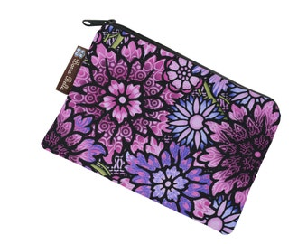 Catch All Bag holds chargers - cords - make up - collections - hard drives - FAST SHIPPING - Passion Purple Fabric