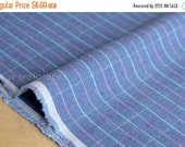 Japanese Fabric - check canvas - blue - 50cm