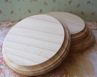 Round solid wood plaque 5 inch