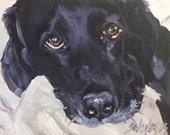 Original painting, oil,dog art,labrador retriever, ANGEL, 30 day challenge