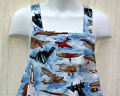 Childs Apron with Flying Machines