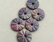 Raku Finish Polymer Clay Beads, Rainbow, Aurora Borealis Beads, Faux Finish, Metallic Lustre, Pearl Color Beads