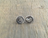 Love and Peace post earrings