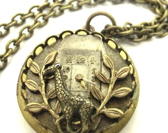 Giraffe Locket  ...  Steampunk